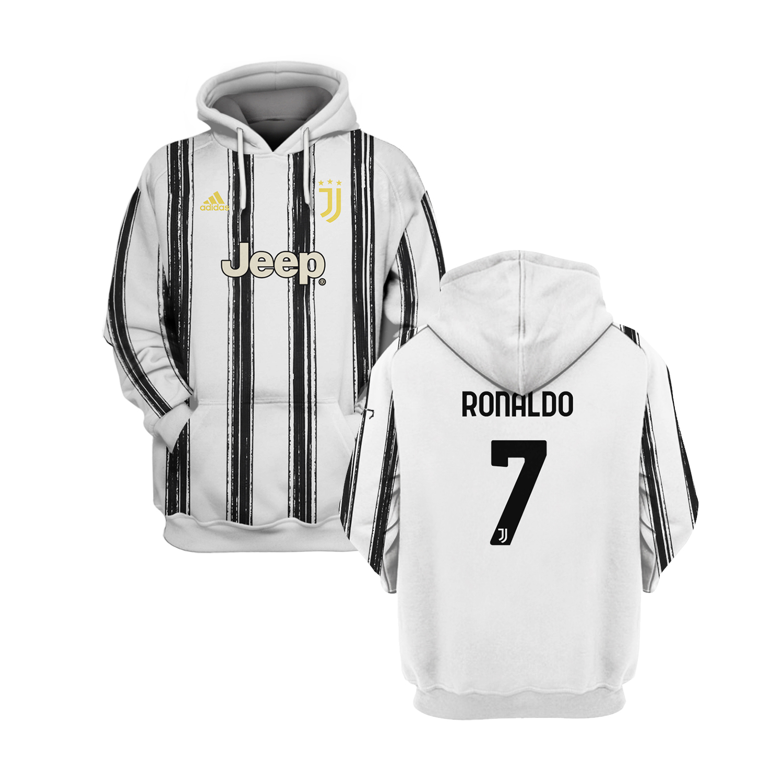 Juventus Ronaldo 7 all over print 3d hoodie 4