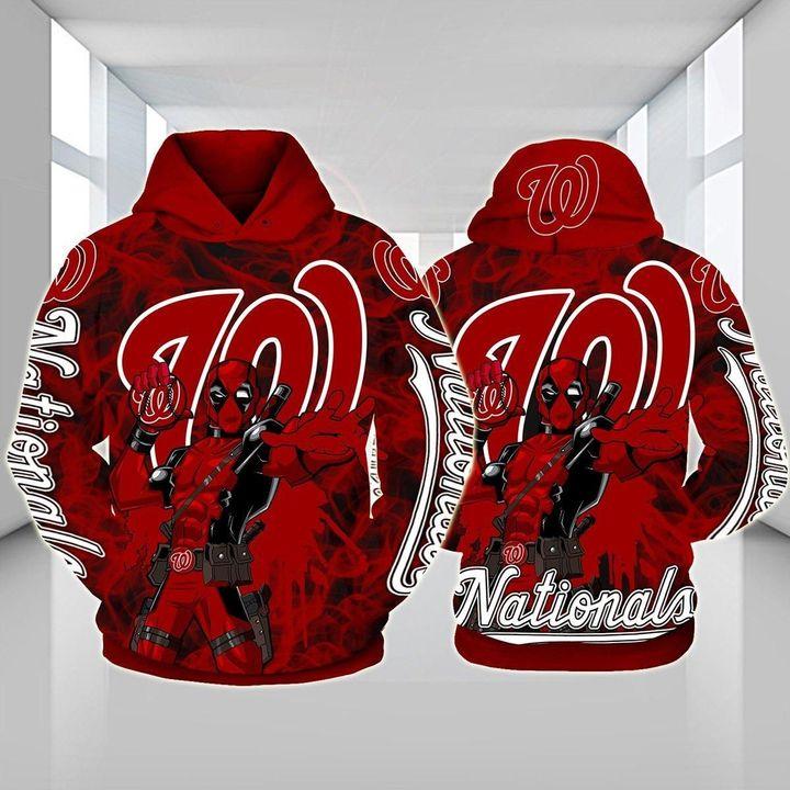 Deadpool Washington nationals 3d hoodie 1