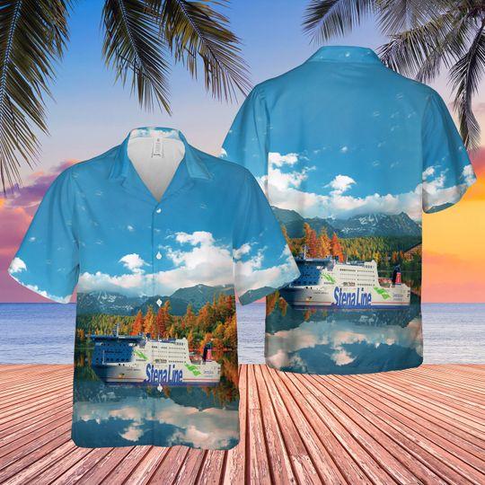 Stena Line Ms Stena Germanica Hawaiian Shirt 1