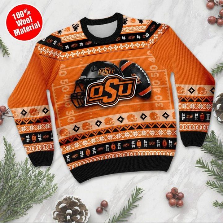 Oklahoma State Cowboys Custom Ugly Christmas Sweater 3