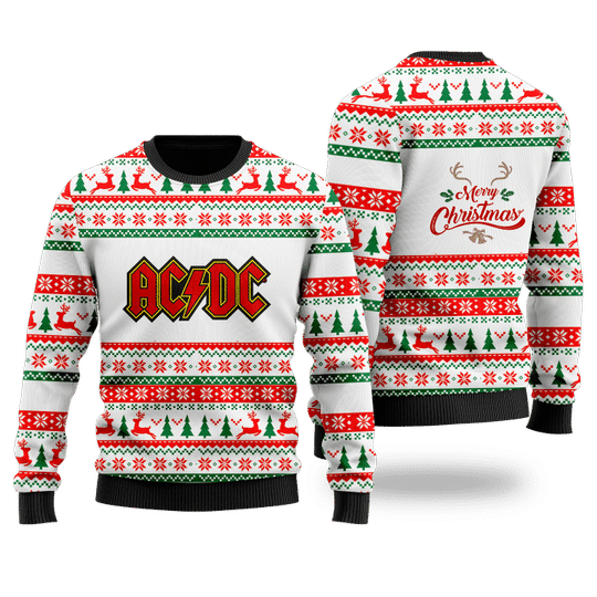 1 ABCD Merry Christmas Faux Wool White Sweater 1