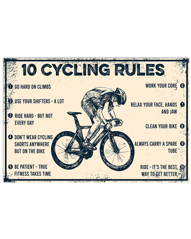 10 Cycling Rules Poster