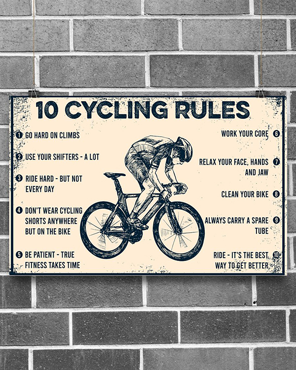 10 Cycling Rules Poster1