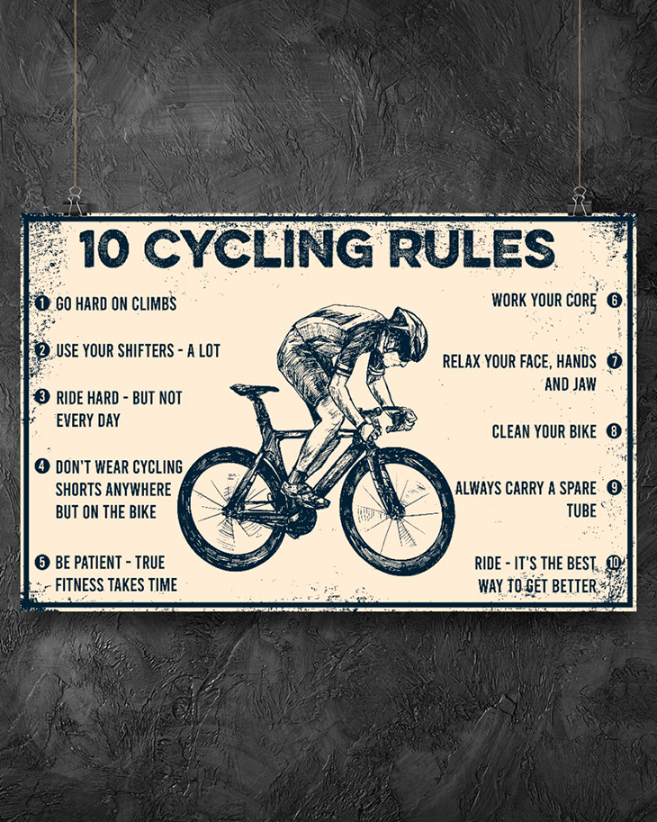 10 Cycling Rules Poster2