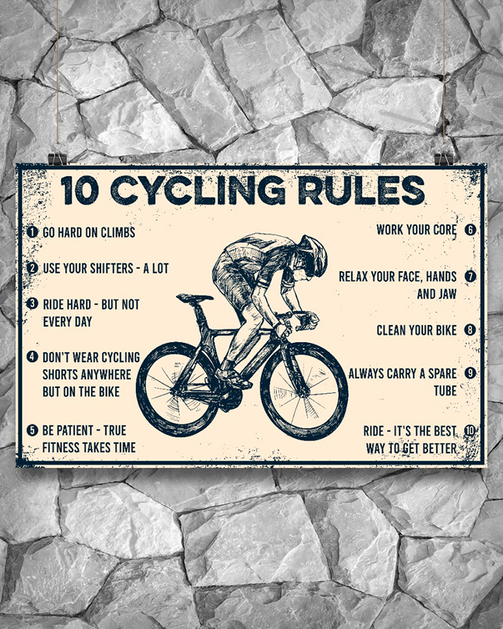 10 Cycling Rules Poster3