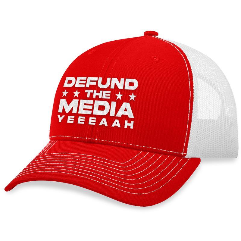 10 Defund The Media Trucker Hat 1