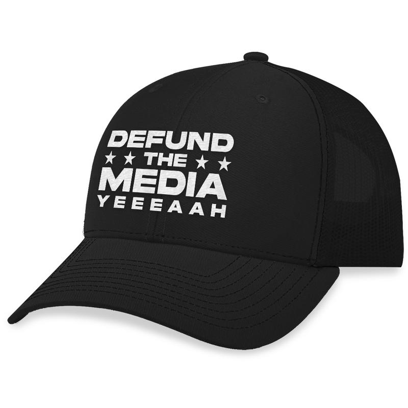 10 Defund The Media Trucker Hat 2