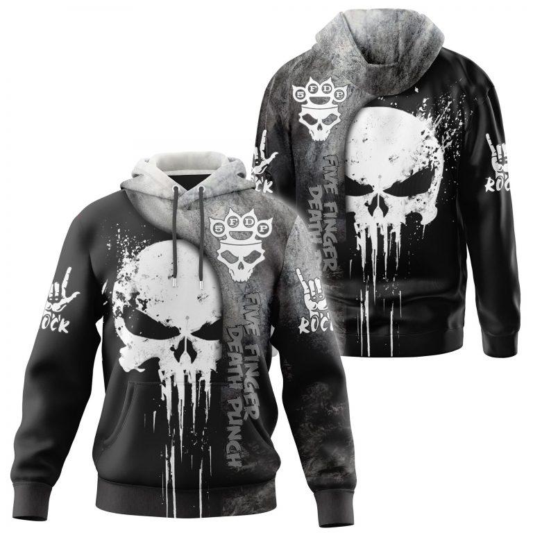 Five finger death punch skull 3d hoodie shirt 2