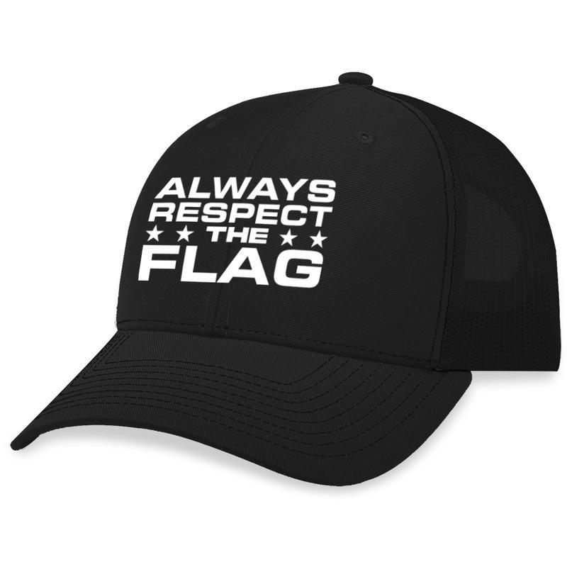 14 Always Respect The Flag Trucker Hat 1