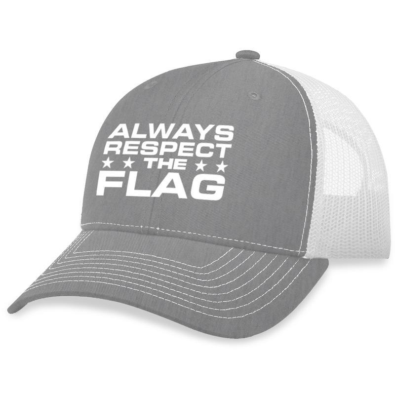 14 Always Respect The Flag Trucker Hat 2
