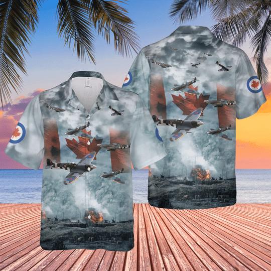 Supermarine spitfire short sleeve hawaiian shirt