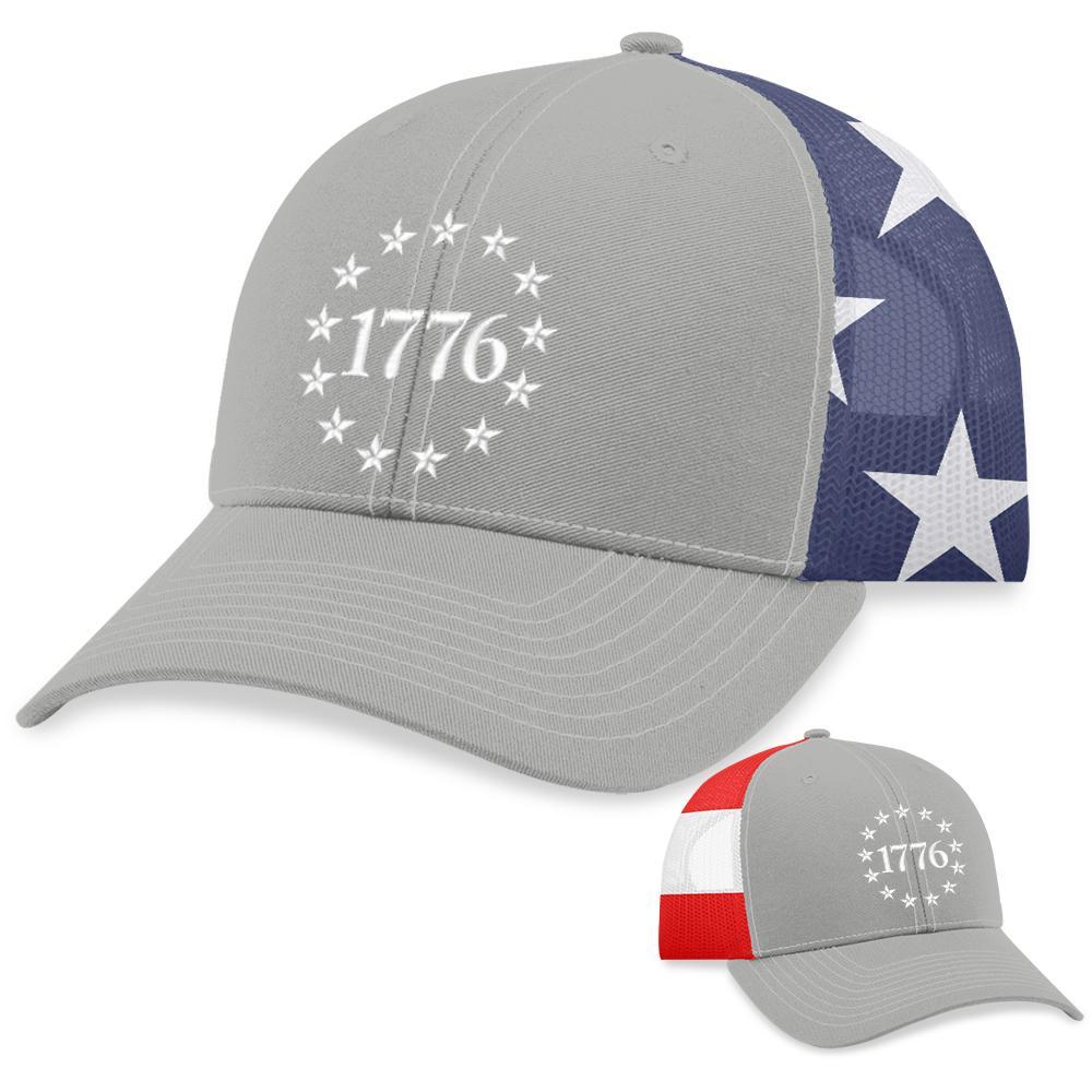 2 1776 Stars Patriotic Logo Hat 5