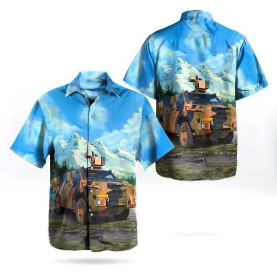 Royal netherlands army bushmaster protected mobility vehicle hawaiian shirt 1