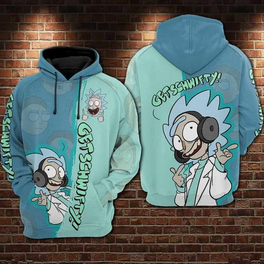 22 Rick and morty get schwifty 3d hoodie 1