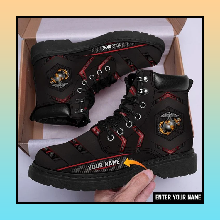 26 US Marine Classic Boots Customized Name 1
