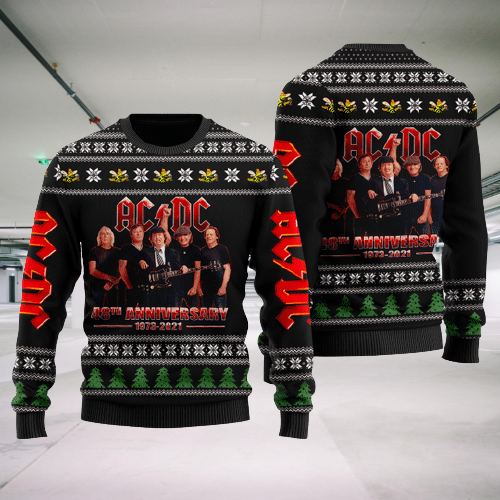 27 ACDC 48th anniversary ugly Christmas sweater 2