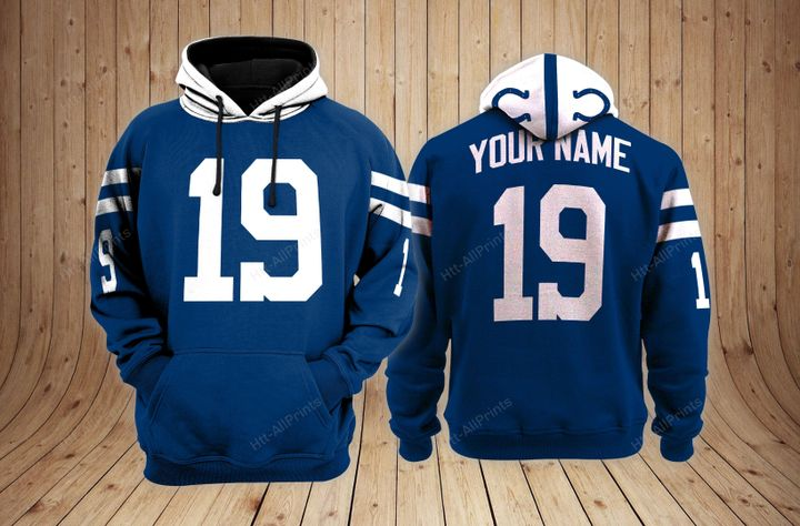 Indianapolis colts custom name hoodie