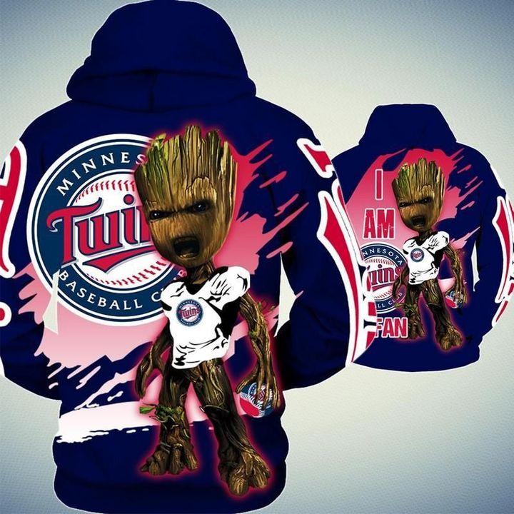 Baby Groot Minnesota twins hoodie 3