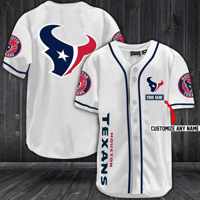 Nfl houston texans baseball jersey shirt