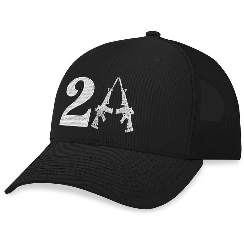 3 2nd Amendment Guns Trucker Hat 2