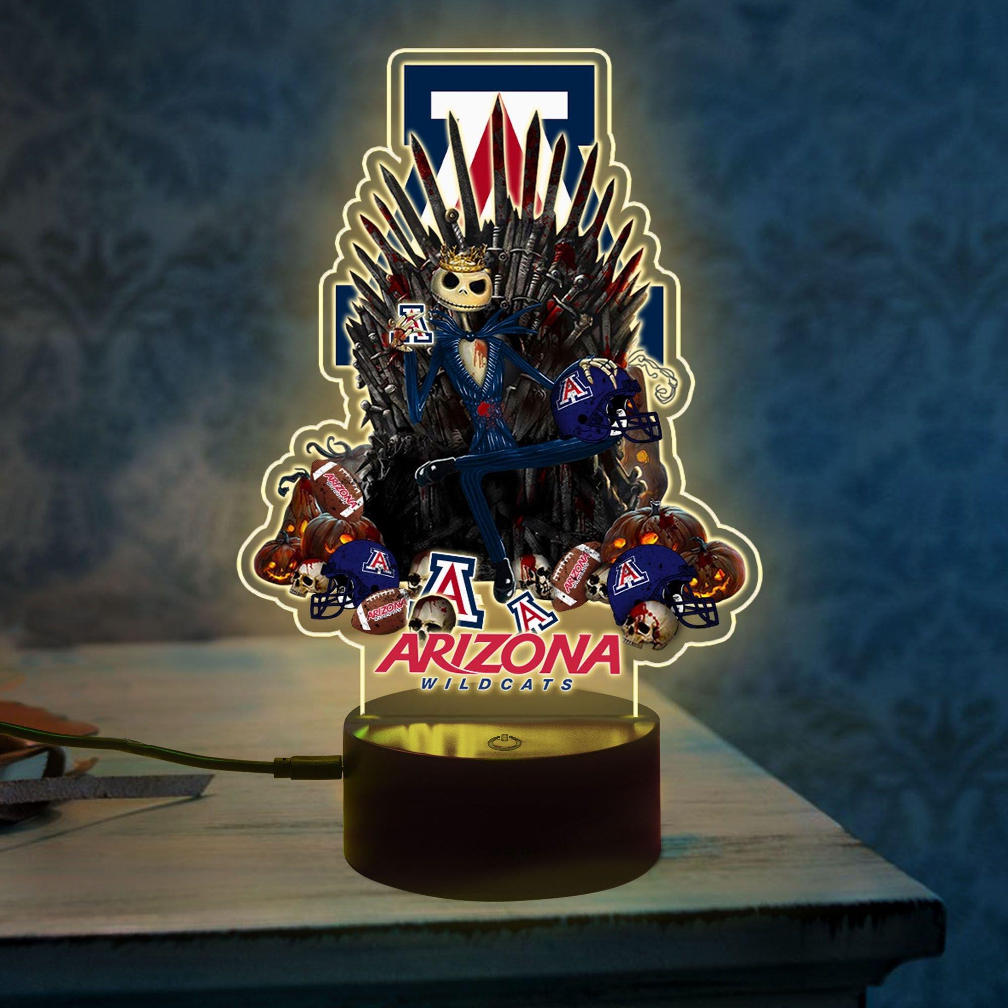 3 Arizona Wildcats NCAA3 Jack Skellington Led Lamp 1