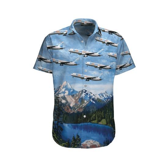Sunwing airlines boeing 767 3y0er hawaiian shirt 1