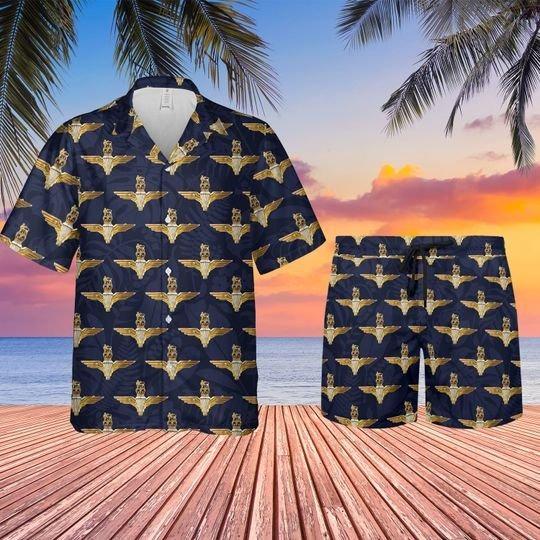 Uk parachute regiment badge hawaiian shirt and shorts 0