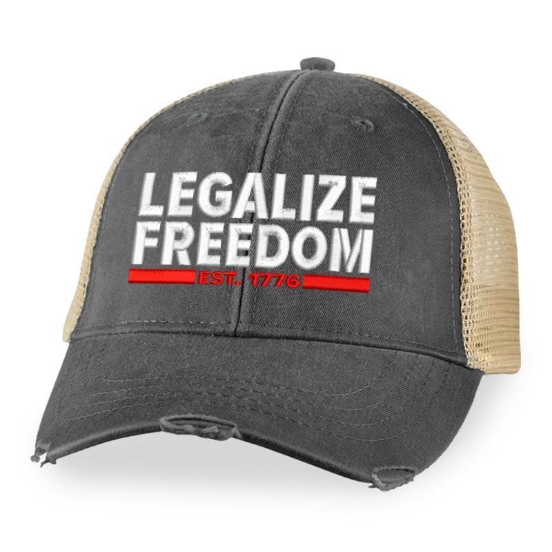 4 Legalize Freedom Trucker Hat 1