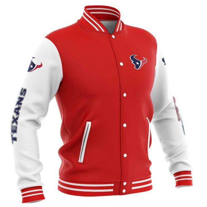 Houston texans baseball jacket 6