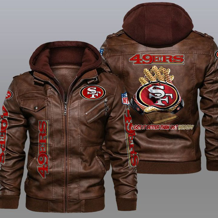 49ers Whos Got It Better Than Us Nobody Leather Jacket1