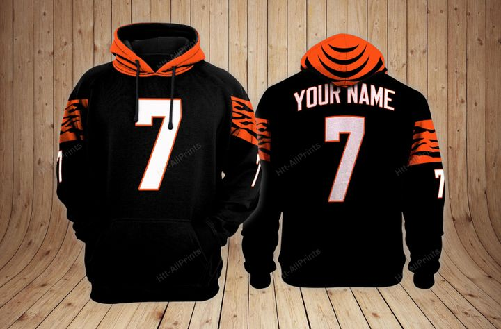 Cincinnati bengals custom name hoodie