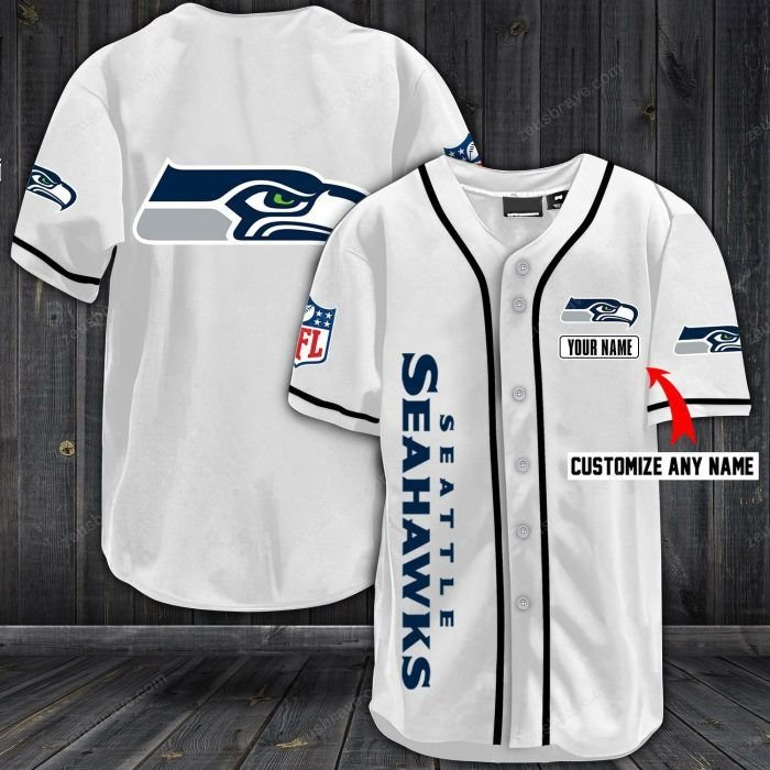 Nfl seattle seahawks baseball jersey shirt