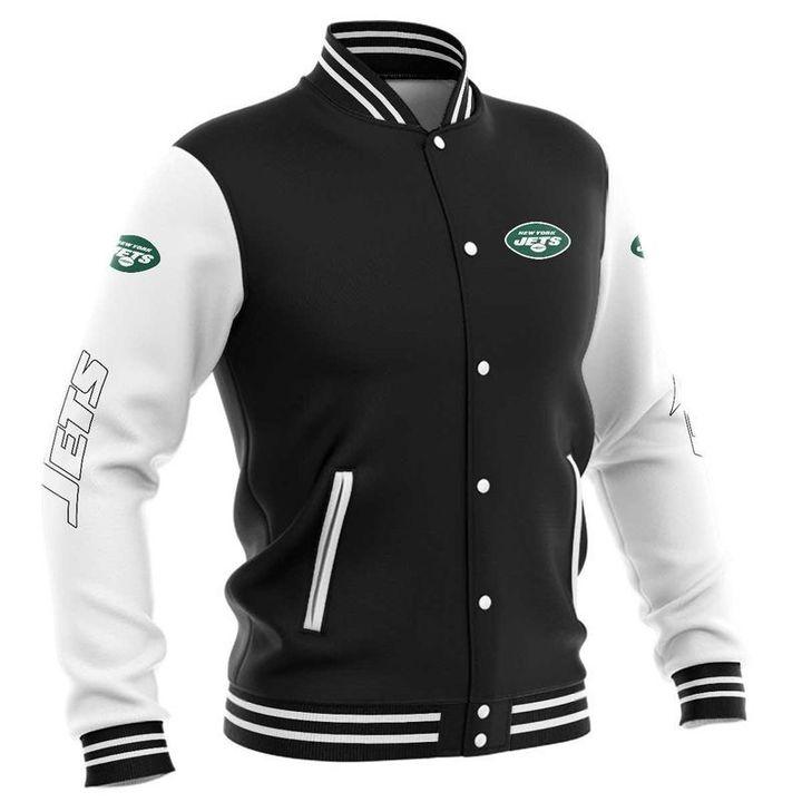 New york jets baseball jacket 0