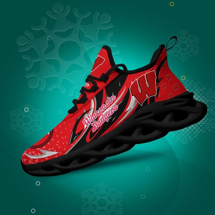 Wisconsin Badgers clunky Max Soul High Top Shoes 4