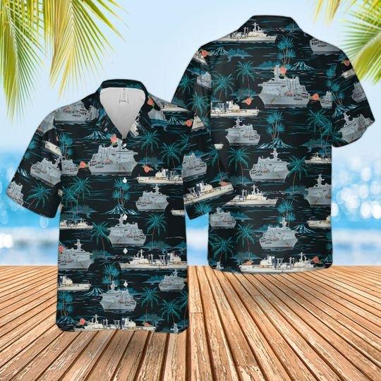 Rn Historical Rfa Fort George Hawaiian Shirt