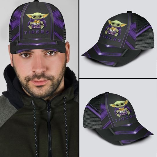 7 LSU Tigers And Baby Yoda Classic Cap 1
