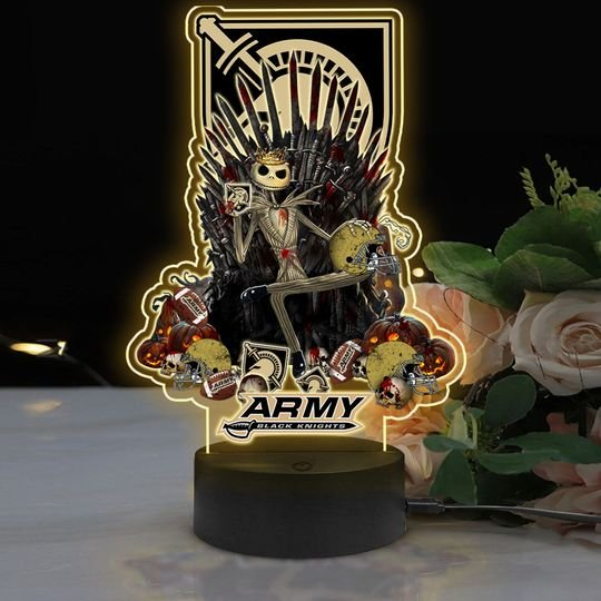 6 Army Black Knights NCAA3 Jack Skellington Led Lamp 2