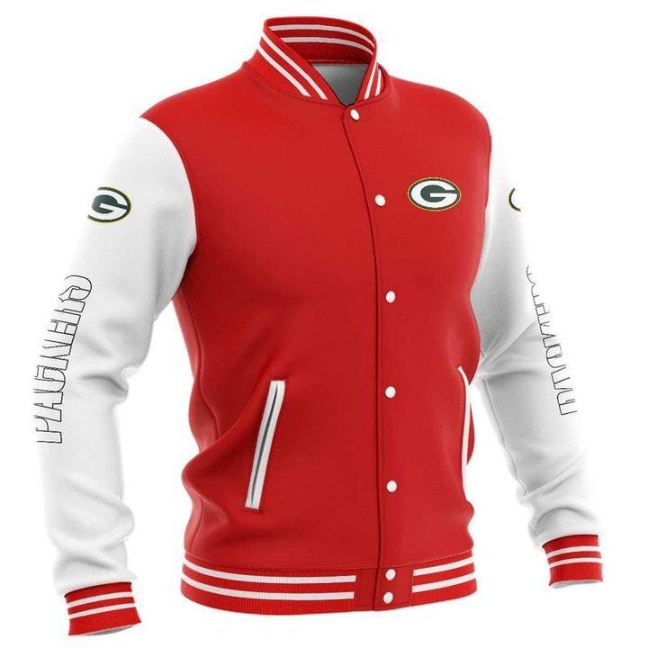 Green bay packers baseball button jacket 1