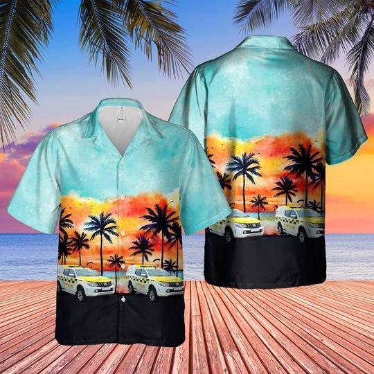 Hm coastguard search and rescue vehicles hawaiian shirt 1