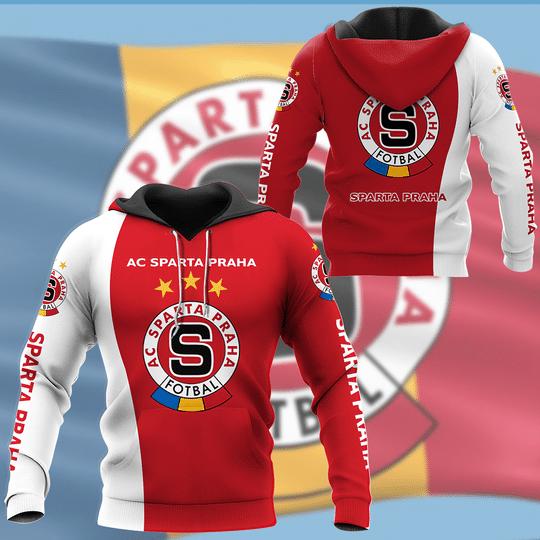 7 Ac sparta praha footbal 3d hoodie 1