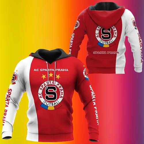 7 Ac sparta praha footbal 3d hoodie 2