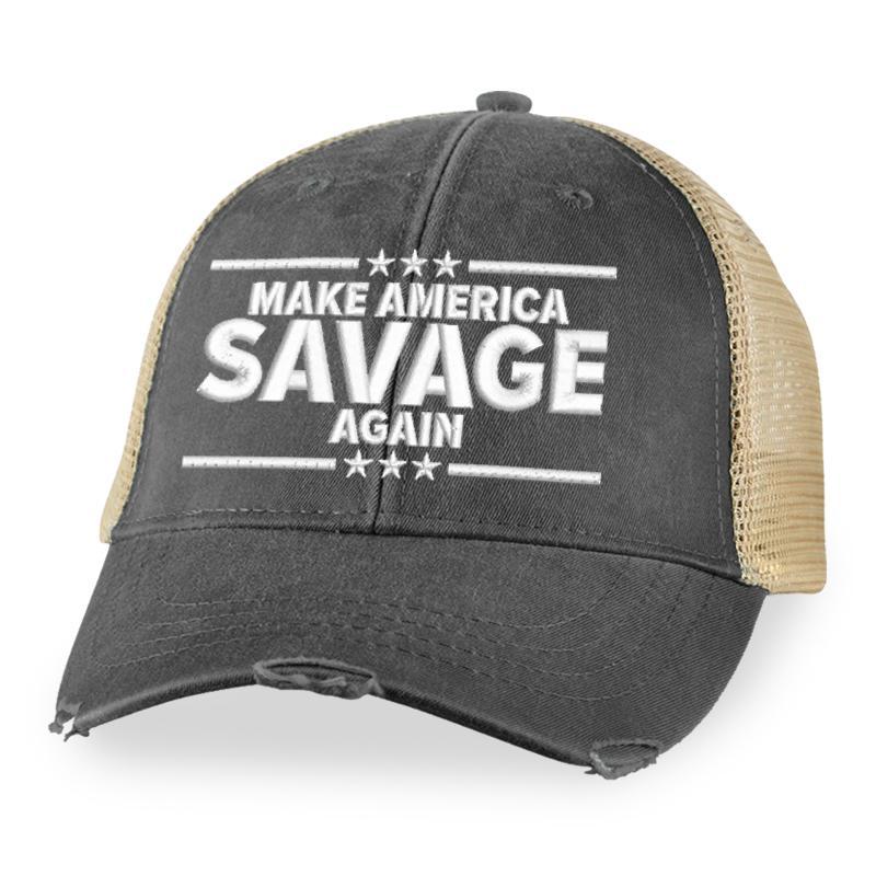 7 Make America Savage Again Trucker Hat 1