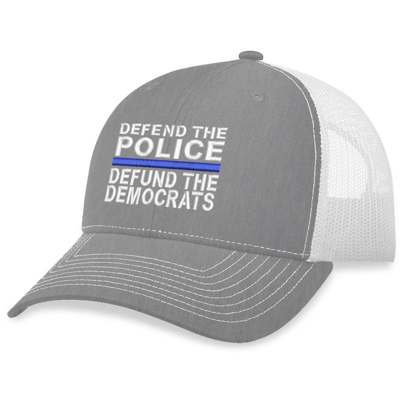 8 Defund The Democrats Trucker Hat 2