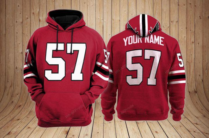 Atlanta falcons custom name hoodie