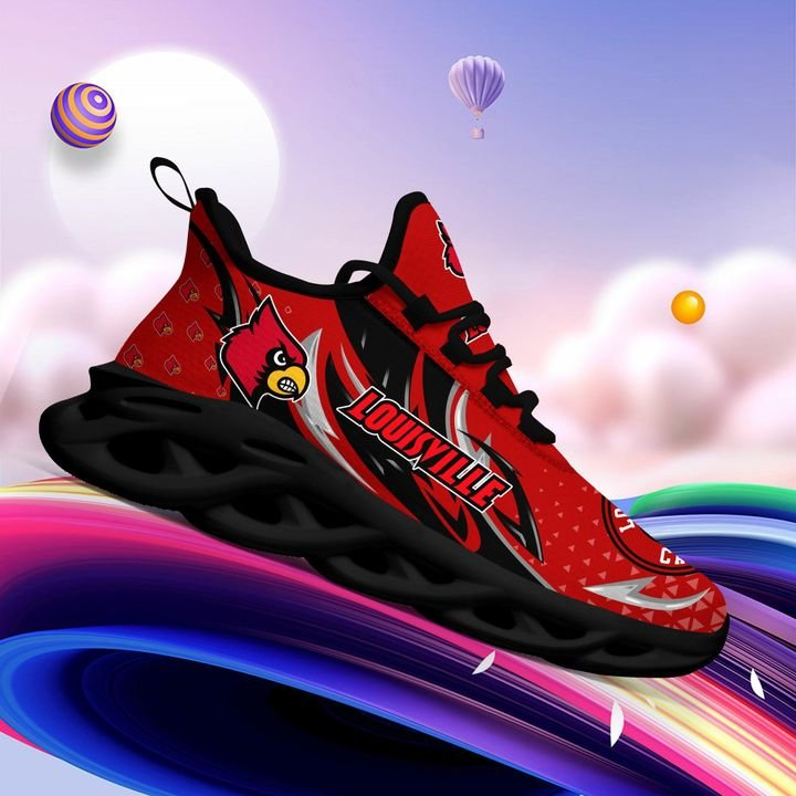 Louisville Cardinals clunky Max Soul High Top Shoes 4