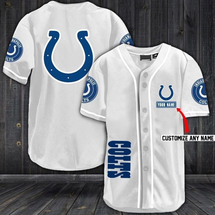 Nfl indianapolis colts baseball jersey shirt