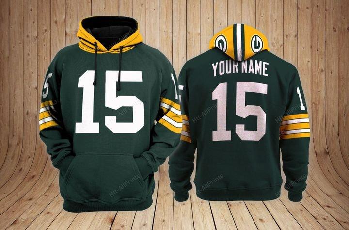 Green bay packers 3d custom name hoodie 2