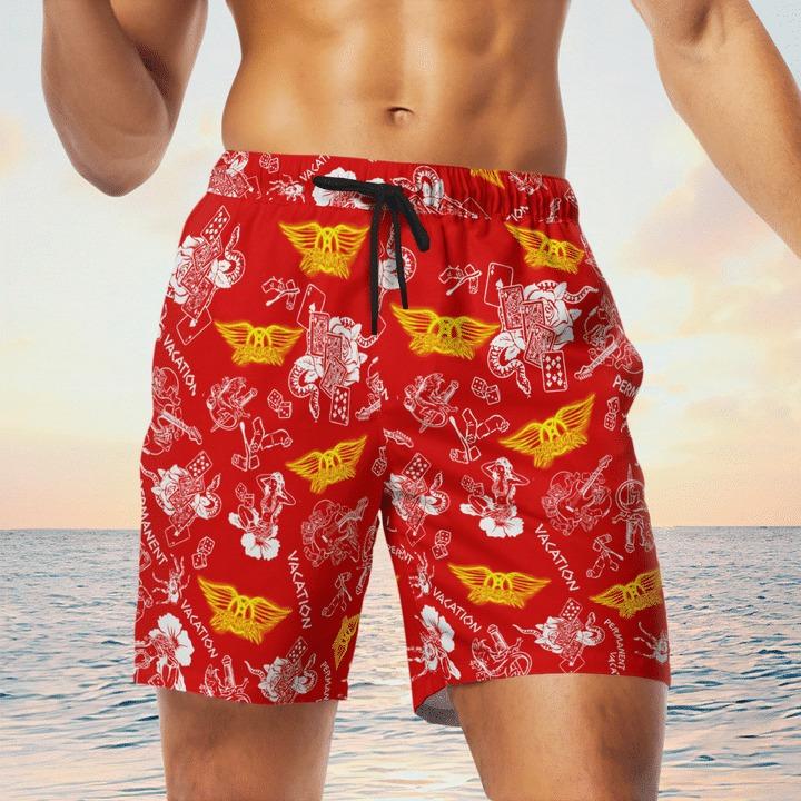 Aerosmith vacation hawaiian shirt and short 1