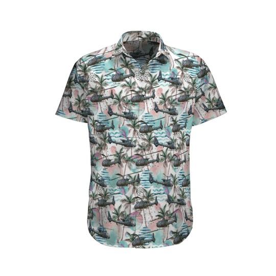 Aerospatiale gazelle french army hawaiian shirt and shorts 1
