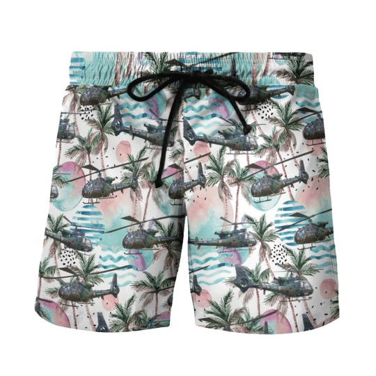 Aerospatiale gazelle french army hawaiian shirt and shorts 2